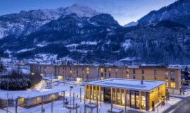 Swiss Peak Resorts in Meiringen BE im Winter mit Schnee. Aufgenommen im Januar 2021.  ©David Birri